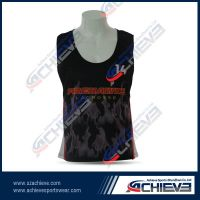 customized sublimation running singlet with new design