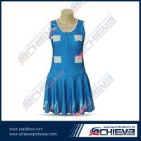 High quality custom pattern netball dress with lycra fabric