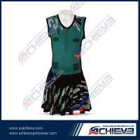 custom lycra cheap sexy netball dress for girls
