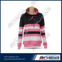 Beautiful and slim fashion sublimation hoodies for women