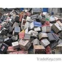 Drained batteries scrap