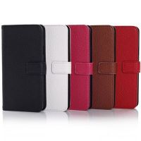 Factory price case for galaxy s5,for samsung galaxy 9600 lichee cover with holder