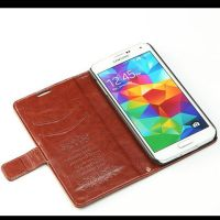 Fashion wallet pu case for s5