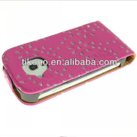 Maple leaf flower leather case for sumsung galaxy s3 mini
