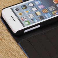 Croco grain pu leather phone case for iphone5c made in China