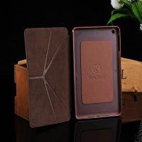 fold 5 flip leather case for ipad mini ,for apple ipad mini case