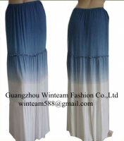 2014 Summer long dresses white & blue long maxi dress