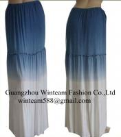 2014 Summer long dresses white & blue long maxi dress