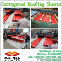 YX840 Prepainted corrugated steel sheet metal/roofing sheet price--Chi