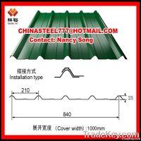 YX840 Prepainted corrugated steel sheet metal/roofing sheet price--Chi