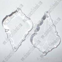 leaf pendant, crystal pendant, wedding pendant