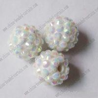 resin rhinestone bead, Round acrylic rhinestone ball, crystal diamond