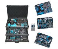 206PCS with ABS Gray Case Hand Tool Kit