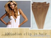 hot selling amazing color 100% brazilian hair clip in hair extension