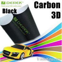 Factory outlets 3D Carbon Fiber Vinyl wrap with air drains