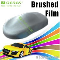 Silver Brushed Vinyl wrapping, Brushed Car Wrap Film with Bubble Free