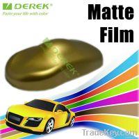 Matte car wraps vinyl gold, self adhesive vinyl decals with matt surfac
