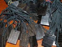 Bog Oak Pendants for custom laser engraving - Bog Wood Pendants