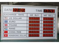 exchange rate LED signs