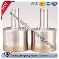 Sintered diamond drill bit for glass drilling
