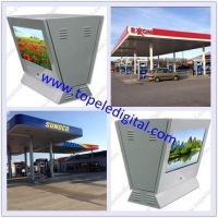 "21.5"" gas/petrol/filling station pump lcd advertising screen, outdoor digital signage, petrol pump double enclosure lcd display"