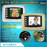 Digital 3.0 inch LCD display 150 degree wide angle peephole door viewer with Alloy metal case camera for home security