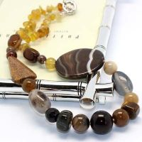 agate natural stone necklace