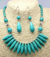 Turquoise stone necklace sets