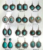 turquoise stone earrings