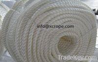 Three strand mooring twist ropes