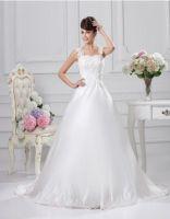 Floor Length Satin Ball Gown Wedding Dresses