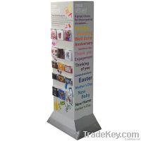 ALCON 4-tier green cardboard paper display tray