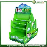 supermarket recycle ecofriendly assemble paper display stand