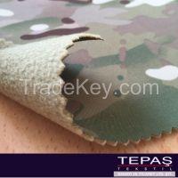 % 10 Elastan % 90 Polyester Back Side Polar Fleece Three Layers Membrane Camouflage Softshell Fabric