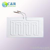Aluminum roll bond refrigerator evaporator