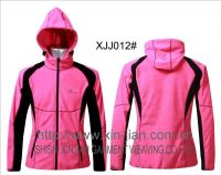 2013 ladies branded softshell light jackets with hoody