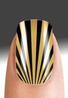 Pretty Woman Artificial Fingernails Metallix Nail Supplier Gold Rays
