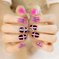 New ABS Artificial Fingernail Water Droplet Nail Tips Pretty Woman Manicure