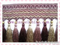 Polyester Tassel Fringe Trimming With Beads