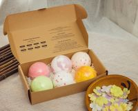 Hot Sale 6PCS Natural Ingredient bath Salts Ball SPA Moisturizing Fizzy Bath fizzer