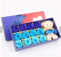 Soap Flower Rose in Gift Box Wedding Decoration Party Gift Body Bath Soap Rose