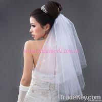 Simple bridal wedding veil
