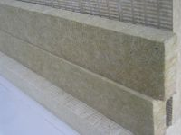Taishek stone wool strip used as fire block in external wall insulation works