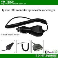 Car Charger For Iphone with 30P Connector