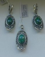 sterling silver oxidized set with gemstones