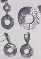 Sterling silver oxidized jewelery set