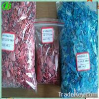 colorful hdpe scrap from beer box