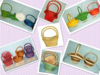 Wholesale Handmade Natural Wicker Flower Baket With Handle
