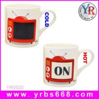 FDA SGS Proved Personality Magic Change Color Sexy Red Bikini Ceramics Coffee Mugs China Factory