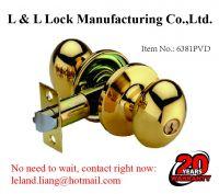 Tubular knob lock with 3 brass Yale keys lock system